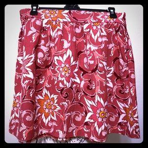 Ann Taylor Loft Skirt A-Line Linen Floral Size S